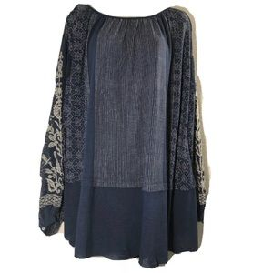 $128 Free People Womens Tunic Oversize Top Size XL